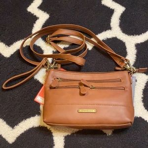 Stone & Co Charginf Charging Brown Crossbody Purse